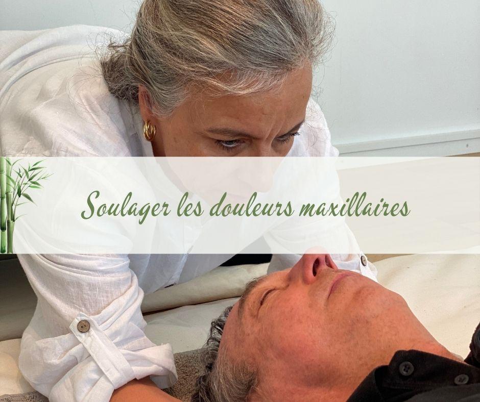 image qui montre une seance de shiatsu pour soulager les douleurs maxillaires persistantes.
